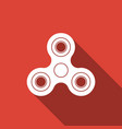 fidget spinner icon isolated with long shadow vector image