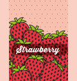 fruit strawberry on the dotted background vector image vector image