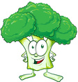 fun broccoli cartoon vector image vector image