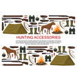 hunting equipment hunt rifles and ammunition vector image