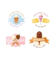 Icecream badge food logo vector image vector image