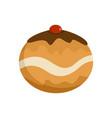 judaism sweet bakery icon flat style vector image vector image