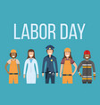 labor day celebration concept banner character vector image vector image