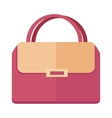 Ladies handbag in flat style Female bag isolated vector image vector image
