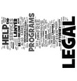 legal help info text background word cloud concept vector image vector image