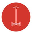 line art style self-balancing scooter icon vector image