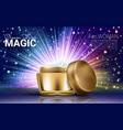 luxury skin toner ads premium glass bottle vector image vector image