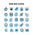 mix icons set vector image vector image