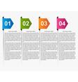 Modern infographic Multicolored arrows Design vector image