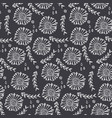 monochrome floral pattern with flowers and herbs vector image vector image
