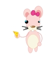 mouse animal cartoon vector image vector image