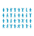 movement stick man set symbol reflection and vector image vector image