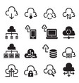 network technology icon set vector image vector image
