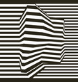 optical illusion lines background abstract 3d vector image vector image