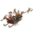 party christmas cartoon sleigh ride vector image