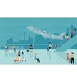 people at airport travel activities vector image vector image