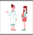 pregnant woman at checkup with doctor in flat vector image vector image
