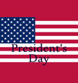 president s day in united states vector image