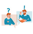 question and answer concept people icons vector image