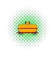 Railroad tank icon comics style vector image vector image