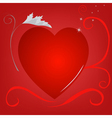 red heart background silver vector image