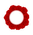 red rose banner wreath vector image vector image