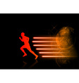 runner modern background vector image