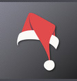 santa claus hat isolated on background vector image vector image
