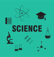 science and chemistry related background vector image vector image