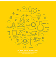 science icon background vector image vector image