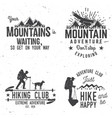 set extreme adventure badges vector image