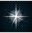 Shine star sparkle icon 16a vector image