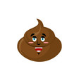 shit happy emoji turd merry emotion isolated vector image vector image