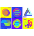 simplicity geometric design set clean lines and vector image vector image