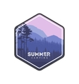 Summer camping label Hiking family vacation in vector image vector image
