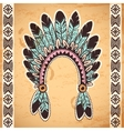 Tribal native American feather headband vector image vector image