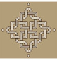 viking decoration knot - engraved - chaned vector image vector image