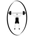 Weightlifting 1 vector image vector image
