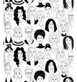 womens head seamless pattern background grunge vector image vector image