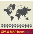 World map icon 2 vector image