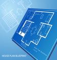 House plan blueprint text background vector image