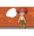 A boy and a speech bubble vector image