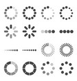 loading bar icon set symbol vector image