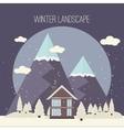 Winter Snow Urban Countryside Landscape City vector image