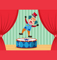 a circus clown on stage vector image