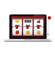 Abstract image of laptop casino slot machine vector image