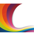 abstract rainbow wave vector image vector image
