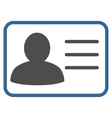 Account Card Flat Icon vector image vector image