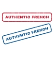 Authentic French Rubber Stamps vector image vector image
