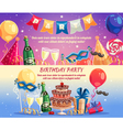 Birthday Party Horizontal Banners vector image vector image